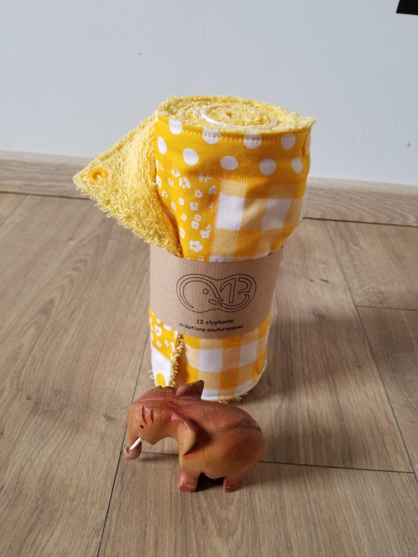 Absorbant lavable jaune