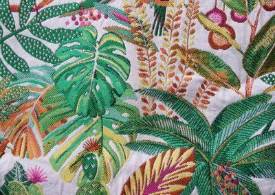 tissus jacquard tropical