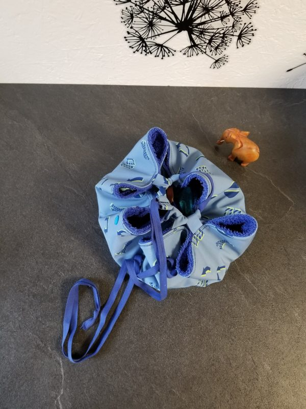 sac pieds sec fleches bleu ferme