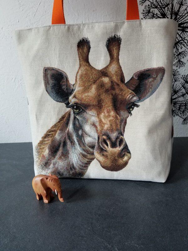 tembo jacquard girafe orange face