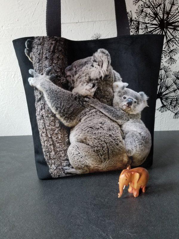 tembo velours koala noir face